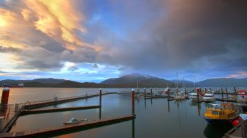 Cow Bay in Prince Rupert, BC, Canada