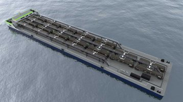transloading barge - Wolverine Terminals
